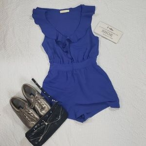 PINS AND NEEDLES violet from ruffle romper size 8